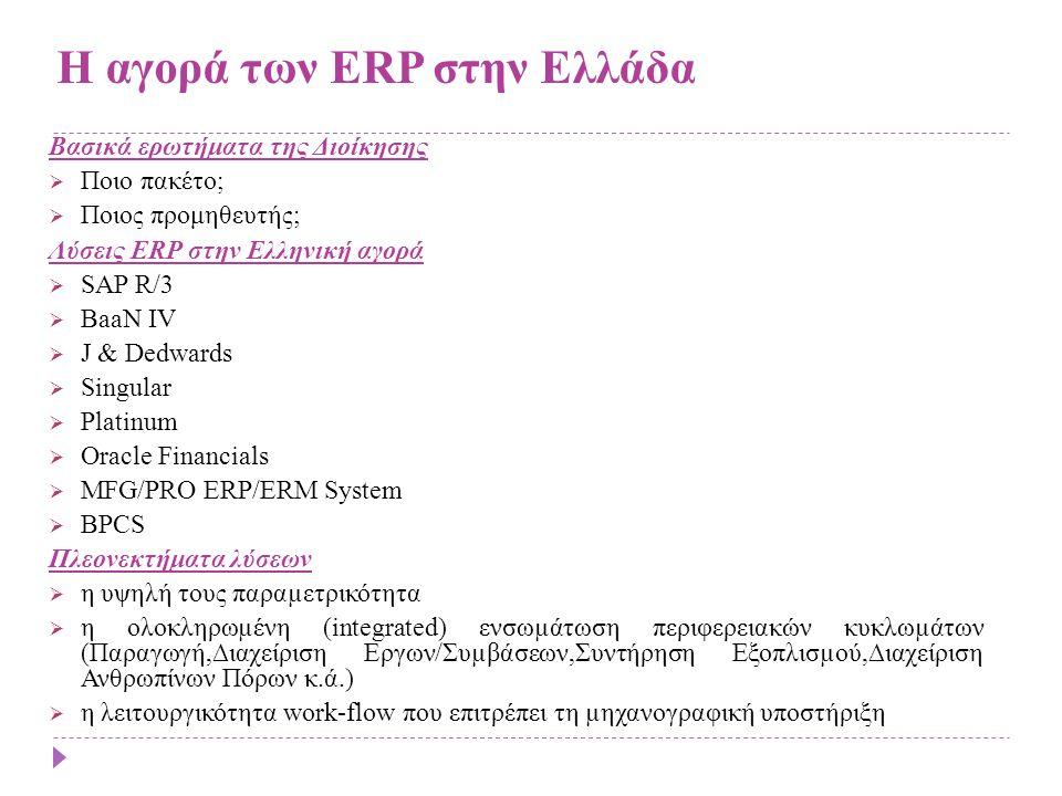 Η αγορά των ERP στην Ελλάδα