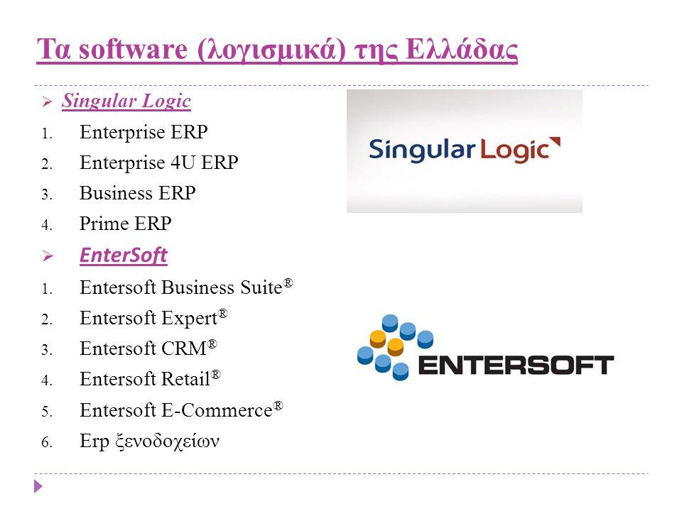 Τα software (λογισμικά) της Ελλάδας