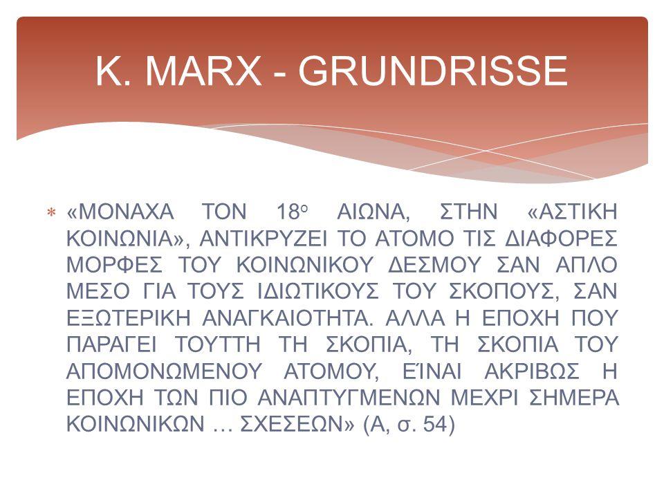 K. MARX - GRUNDRISSE