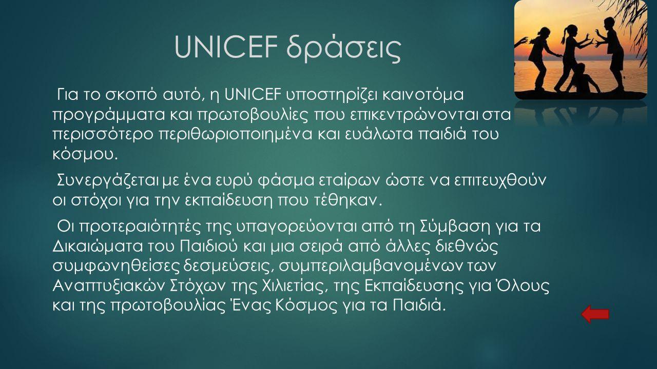 UNICEF δράσεις