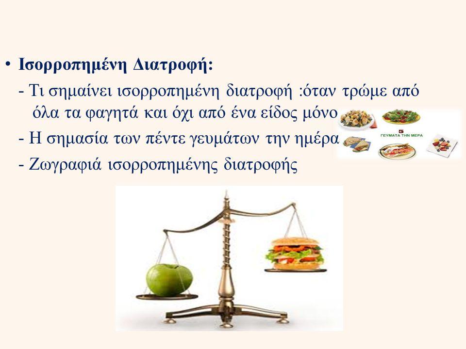 Ισορροπημένη Διατροφή: