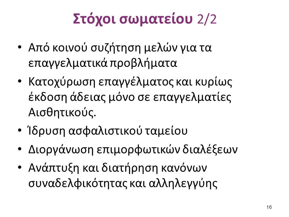 Διαθέσιμα μέσα Σωματείου 1/3