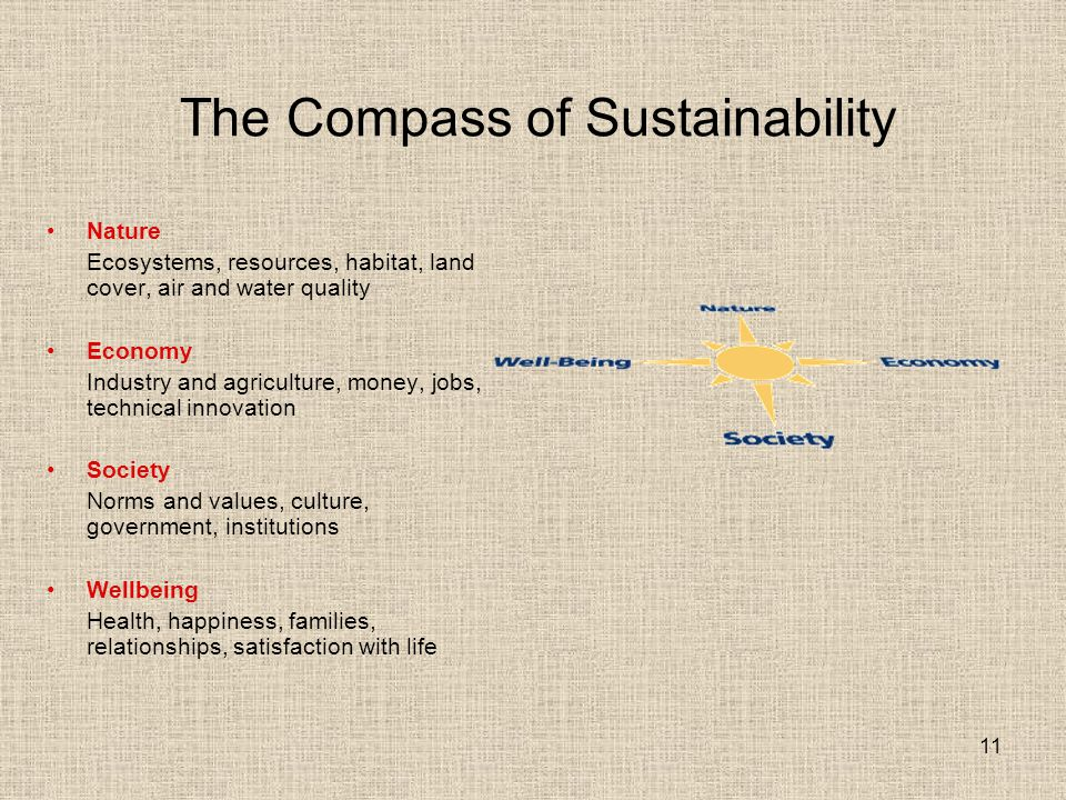 The Compass of Sustainability