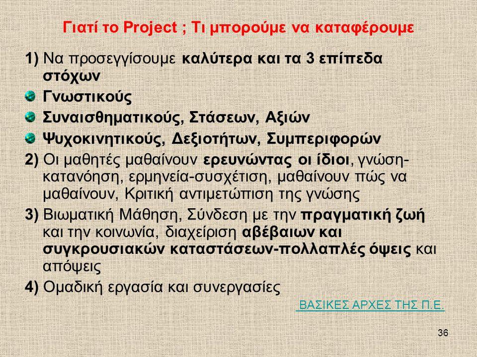 Γιατί το Project ; Τι μπορούμε να καταφέρουμε