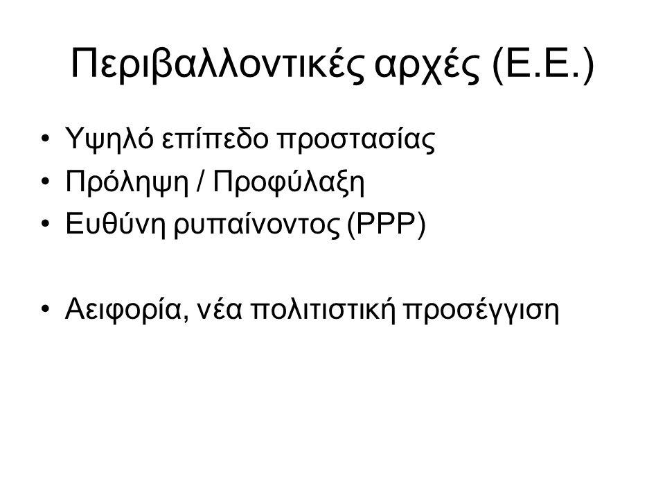 Περιβαλλοντικές αρχές (Ε.Ε.)