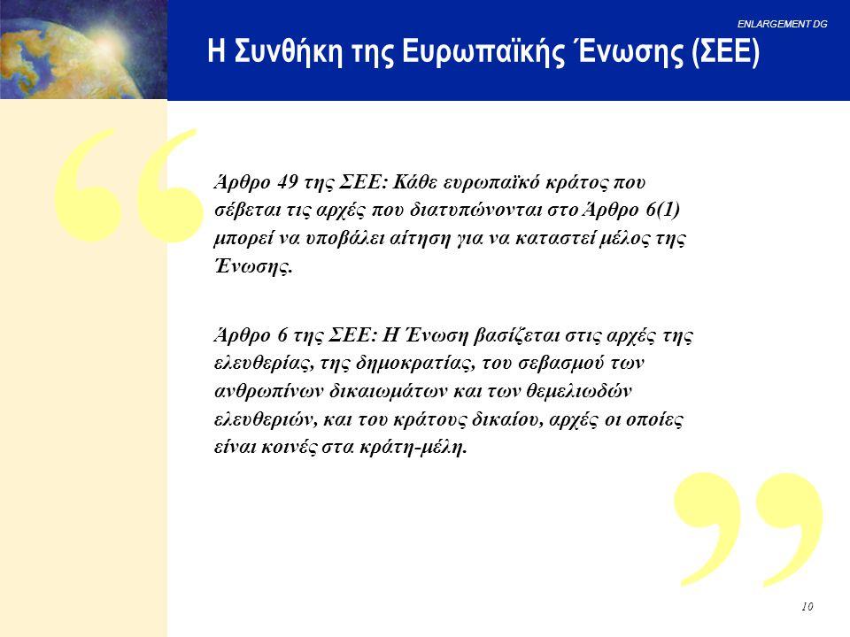 Η Συνθήκη της Ευρωπαϊκής Ένωσης (ΣΕΕ)