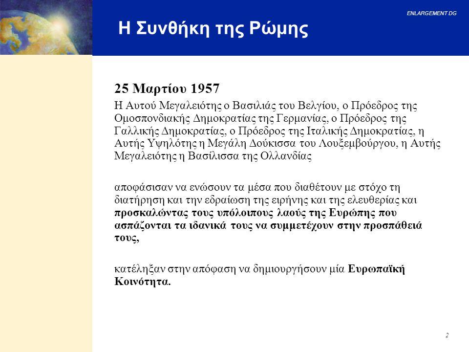 Η Συνθήκη της Ρώμης 25 Μαρτίου 1957