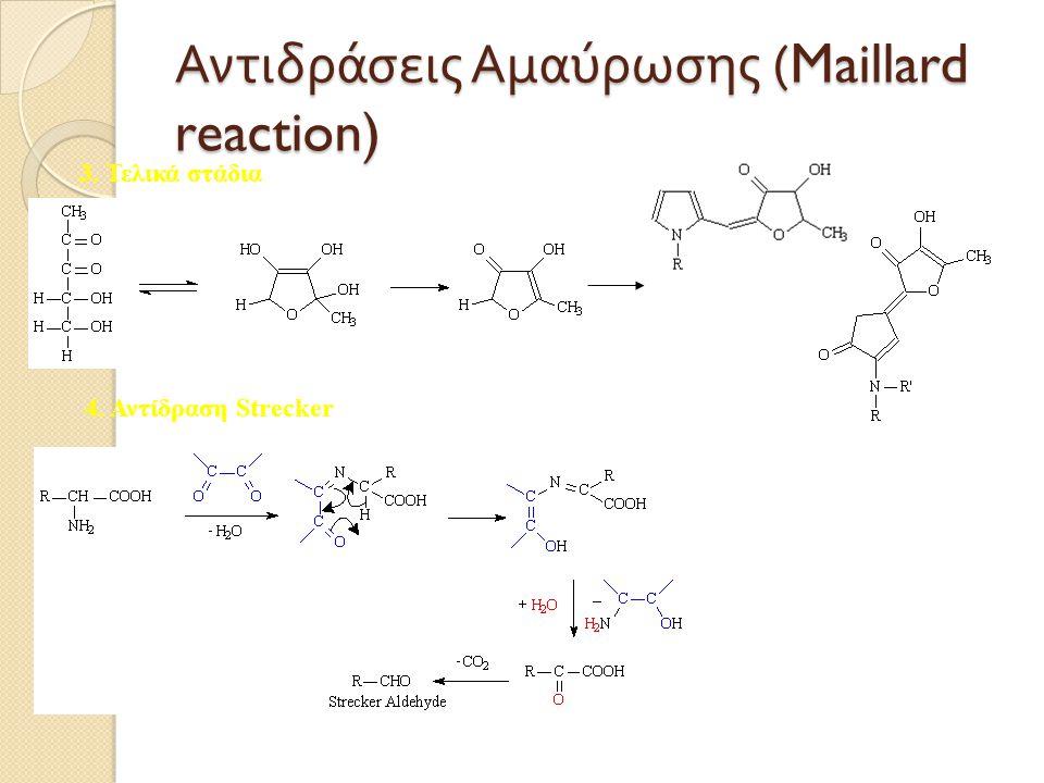 Αντιδράσεις Aμαύρωσης (Maillard reaction)