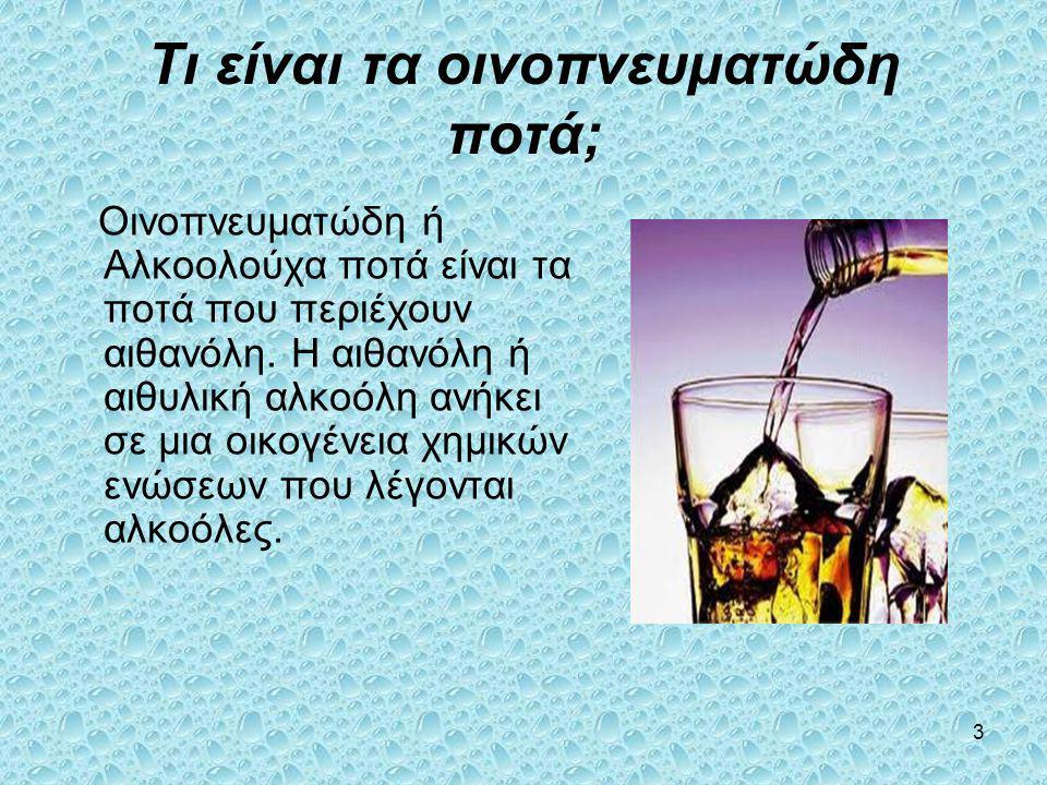 Τι είναι τα οινοπνευματώδη ποτά;