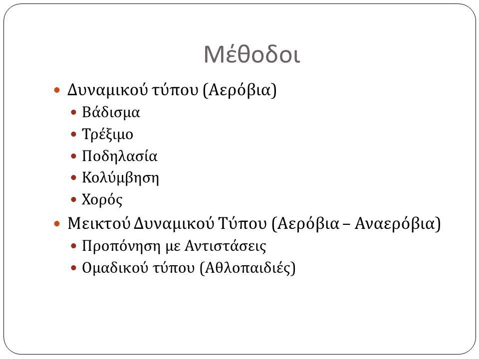Μέθοδοι Δυναμικού τύπου (Αερόβια)