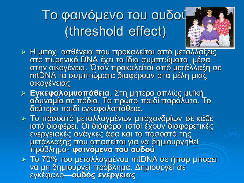 Το φαινόμενο του ουδού (threshold effect)