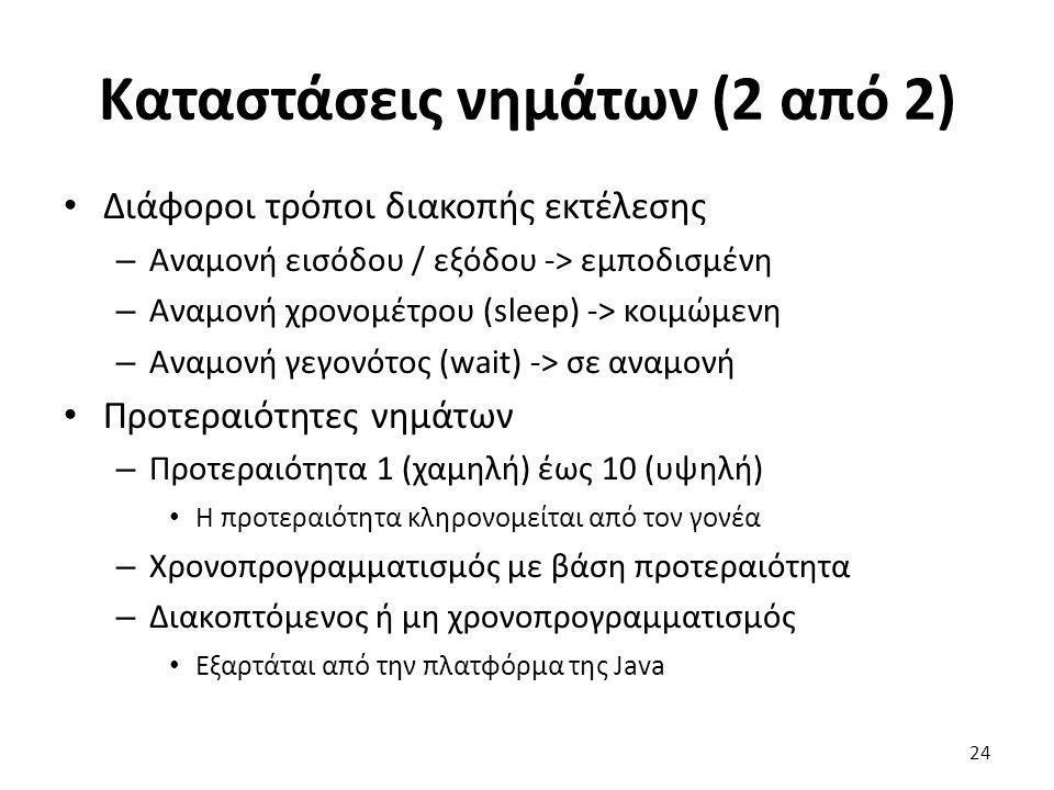 Καταστάσεις νημάτων (2 από 2)