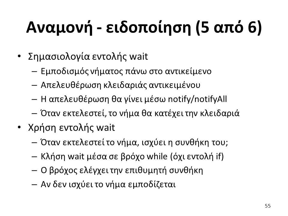 Αναμονή - ειδοποίηση (5 από 6)