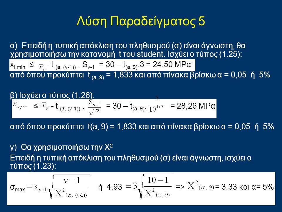 Λύση Παραδείγματος 5
