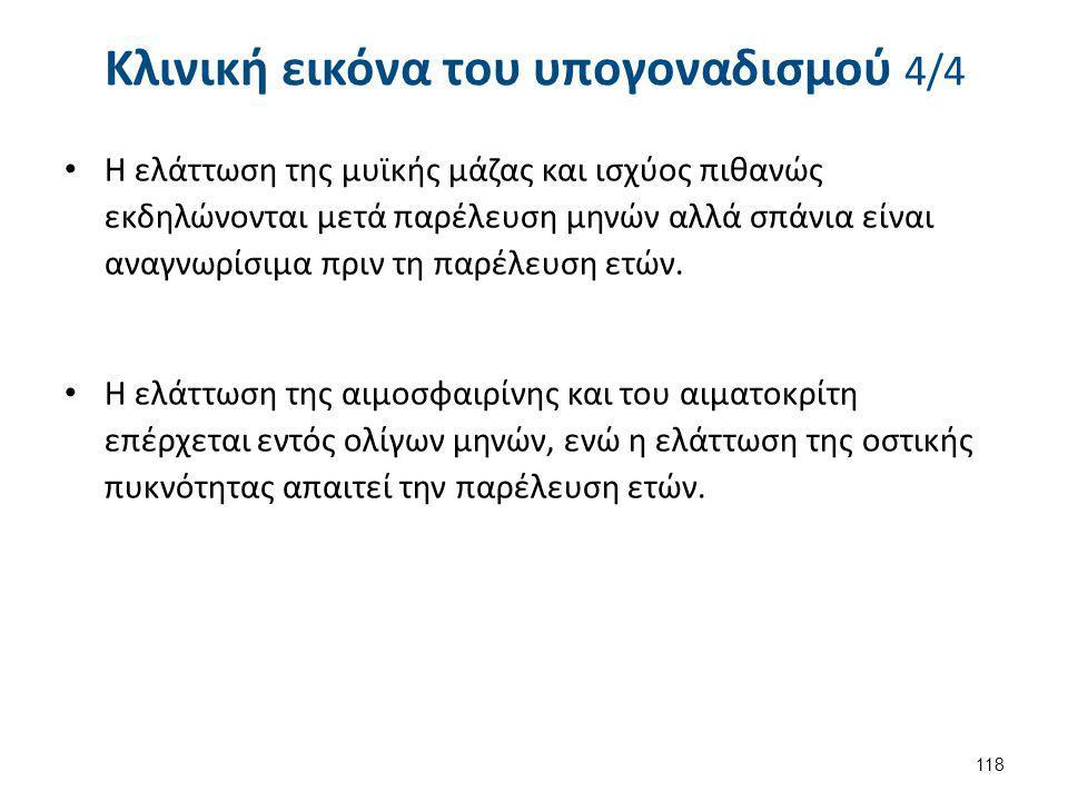 Αίτια υπογοναδοτροπικού υπογοναδισμού 1/5