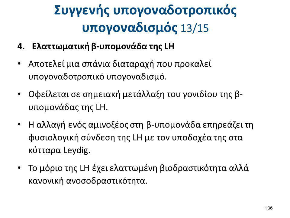 Συγγενής υπογοναδοτροπικός υπογοναδισμός 14/15