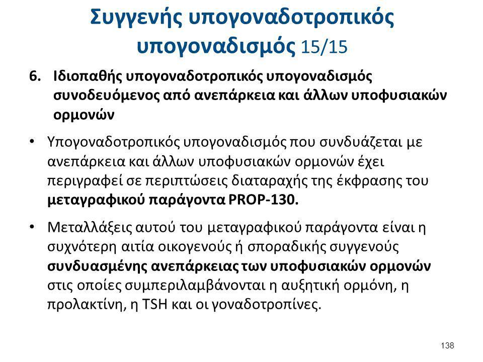 Επίκτητος υπογοναδοτροπικός υπογοναδισμός 1/10