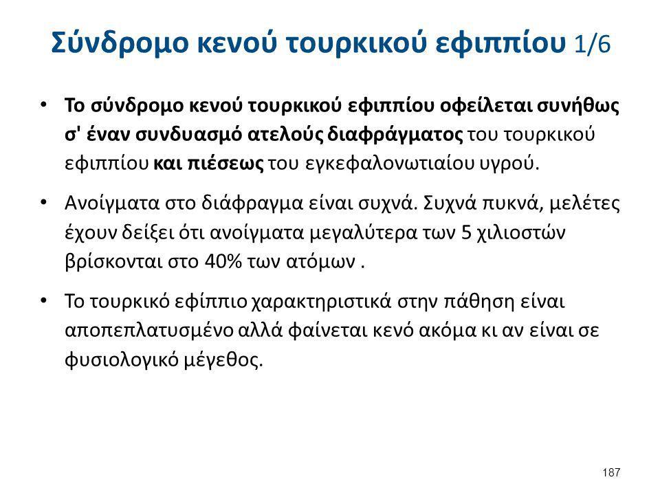 Σύνδρομο κενού τουρκικού εφιππίου 2/6