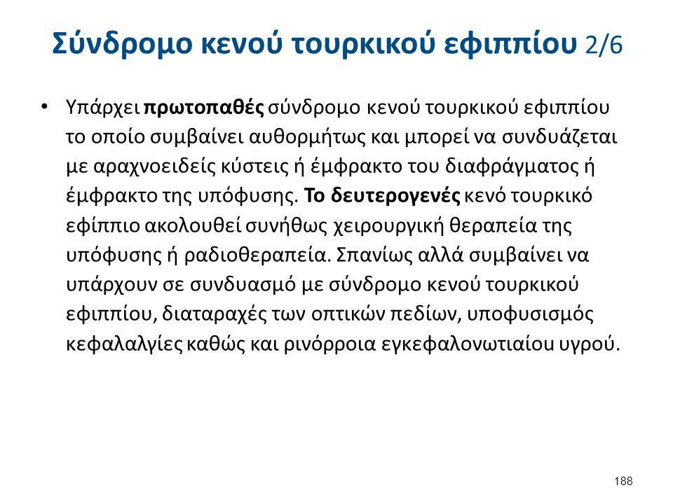 Σύνδρομο κενού τουρκικού εφιππίου 3/6