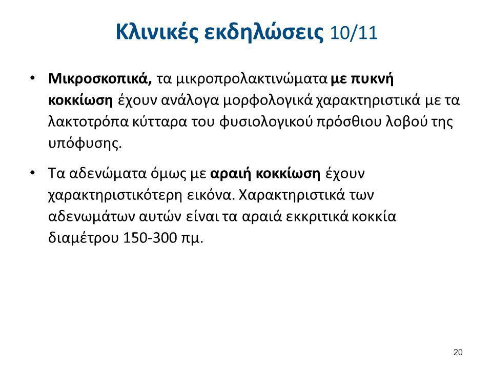 Κλινικές εκδηλώσεις 11/11