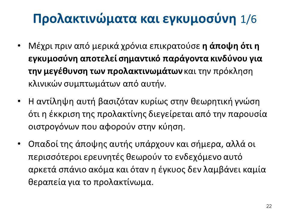 Προλακτινώματα και εγκυμοσύνη 2/6