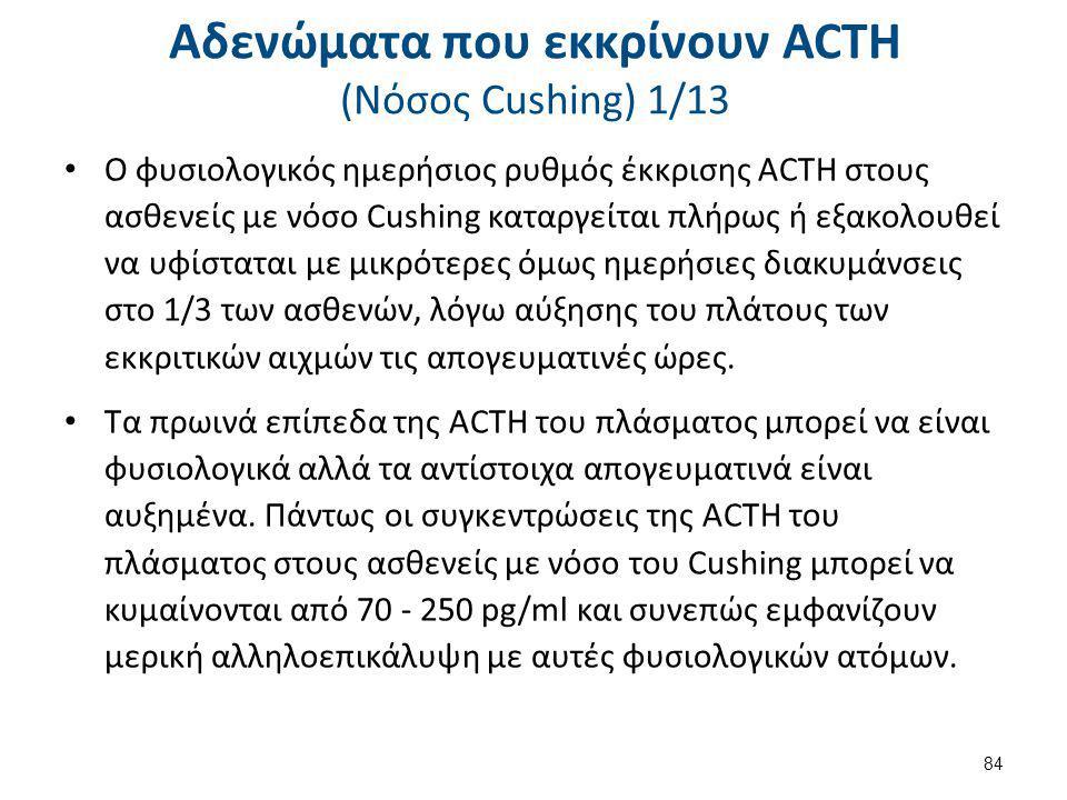 Αδενώματα που εκκρίνουν ACTH (Nόσος Cushing) 2/13