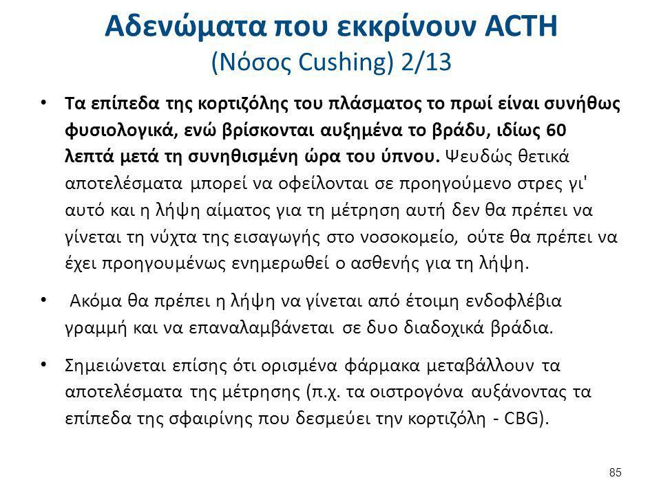 Αδενώματα που εκκρίνουν ACTH (Nόσος Cushing) 3/13