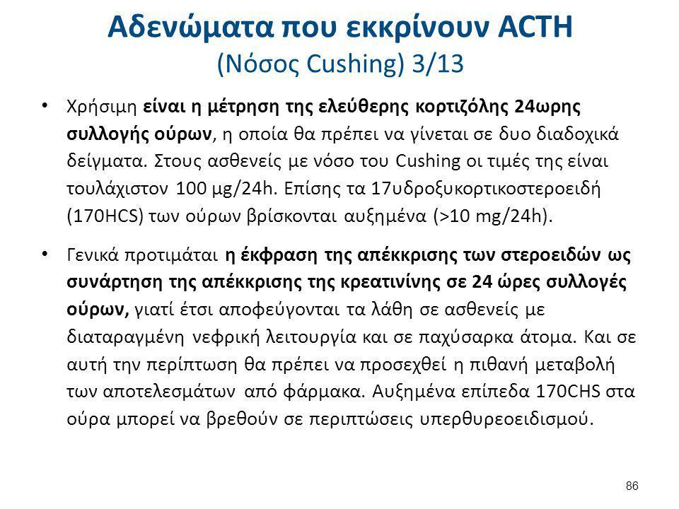 Αδενώματα που εκκρίνουν ACTH (Nόσος Cushing) 4/13