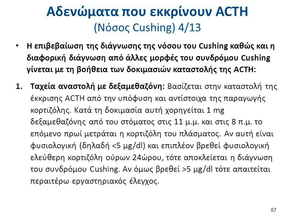 Αδενώματα που εκκρίνουν ACTH (Nόσος Cushing) 5/13