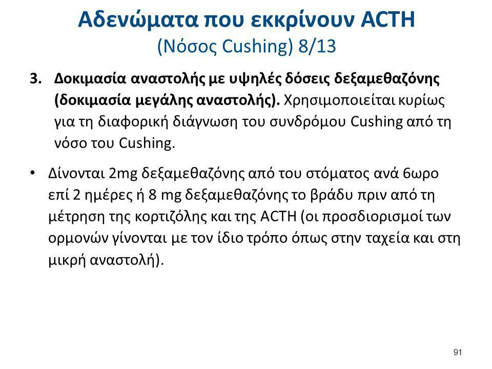 Αδενώματα που εκκρίνουν ACTH (Nόσος Cushing) 9/13