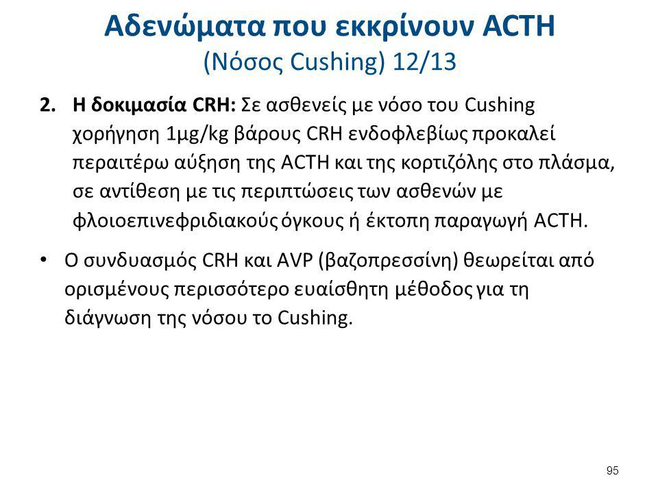 Αδενώματα που εκκρίνουν ACTH (Nόσος Cushing) 13/13