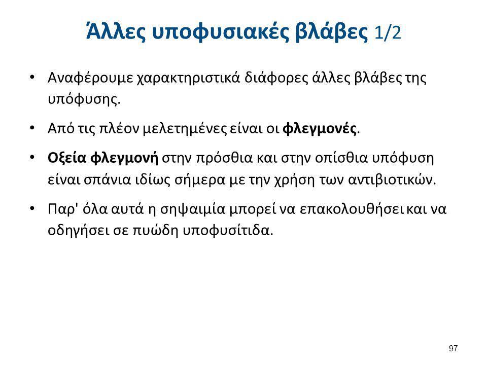 Άλλες υποφυσιακές βλάβες 2/2