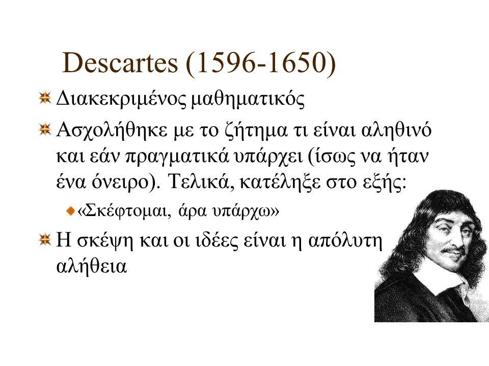Descartes (1596-1650) Διακεκριμένος μαθηματικός