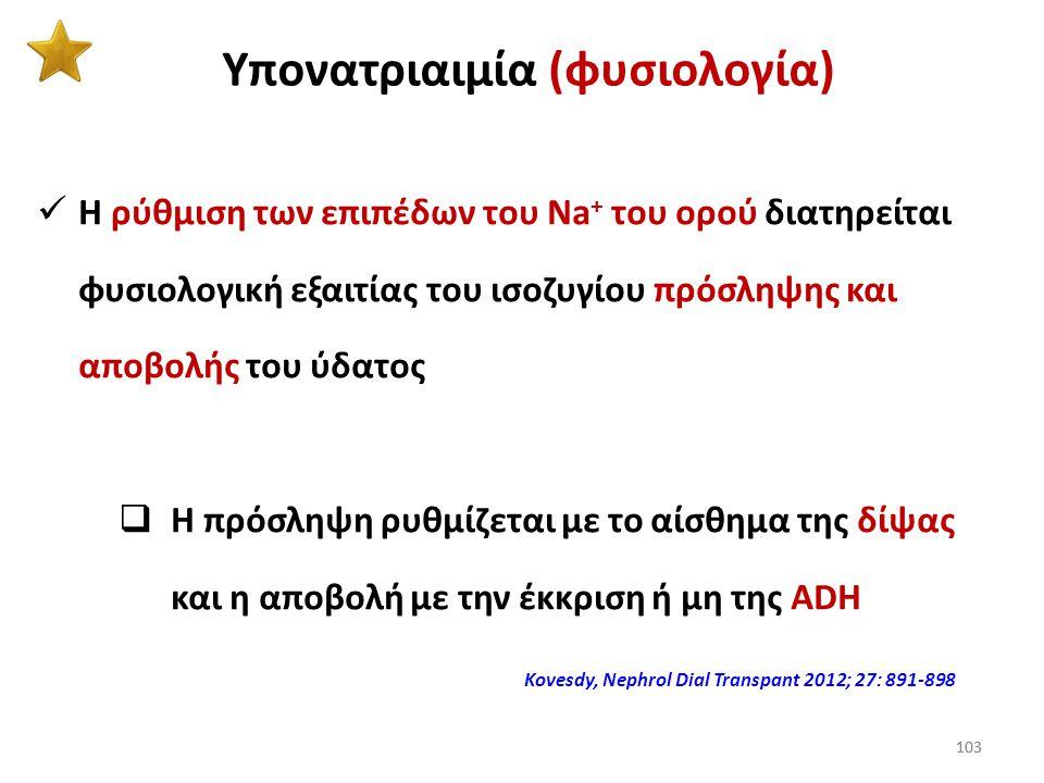Υπονατριαιμία (φυσιολογία)