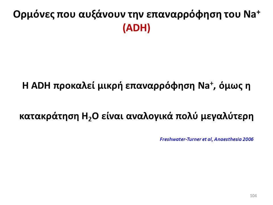 Ορμόνες που αυξάνουν την επαναρρόφηση του Na+ (ADH)