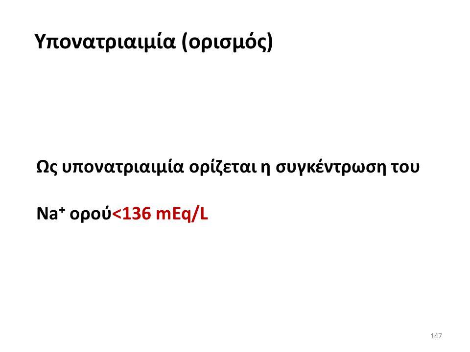 Υπονατριαιμία (ορισμός)