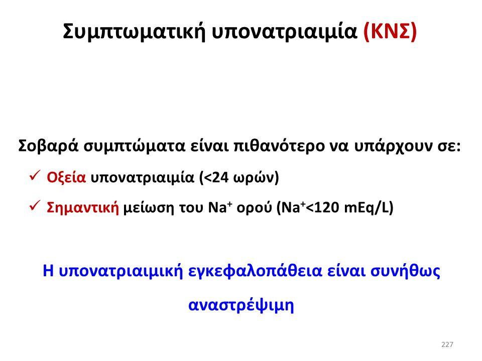 Συμπτωματική υπονατριαιμία (ΚΝΣ)