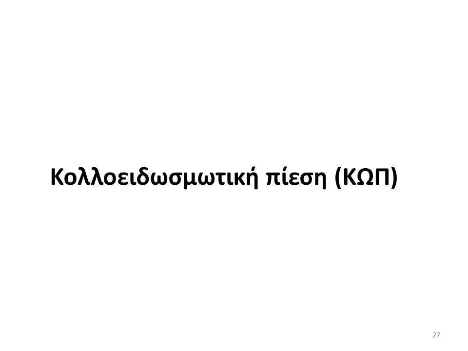 Κολλοειδωσμωτική πίεση (ΚΩΠ)