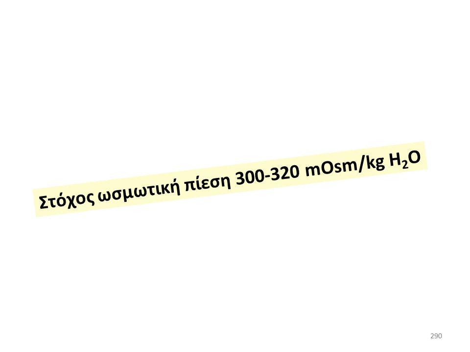 Στόχος ωσμωτική πίεση 300-320 mOsm/kg H2O