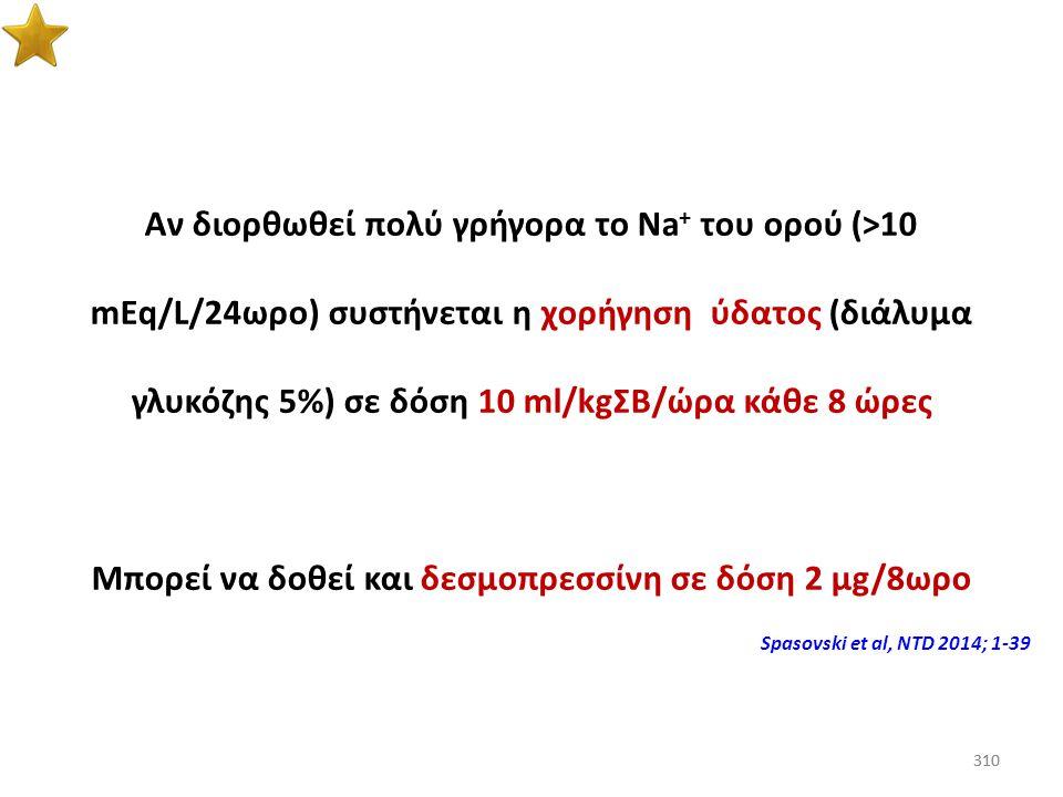 Μπορεί να δοθεί και δεσμοπρεσσίνη σε δόση 2 μg/8ωρο