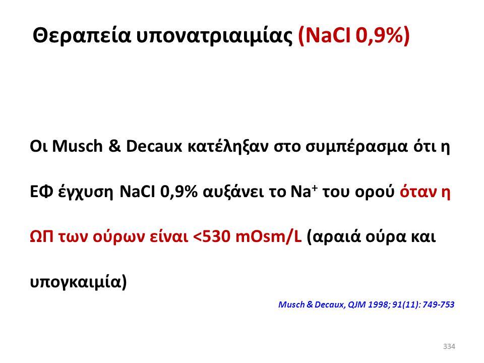 Θεραπεία υπονατριαιμίας (NaCI 0,9%)