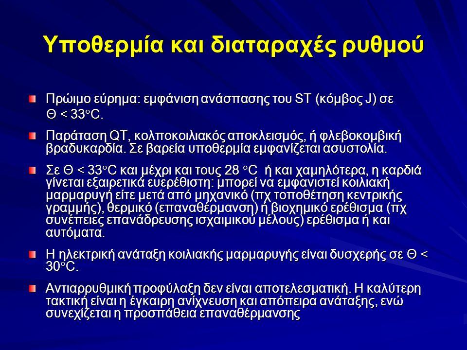 Υποθερμία και διαταραχές ρυθμού