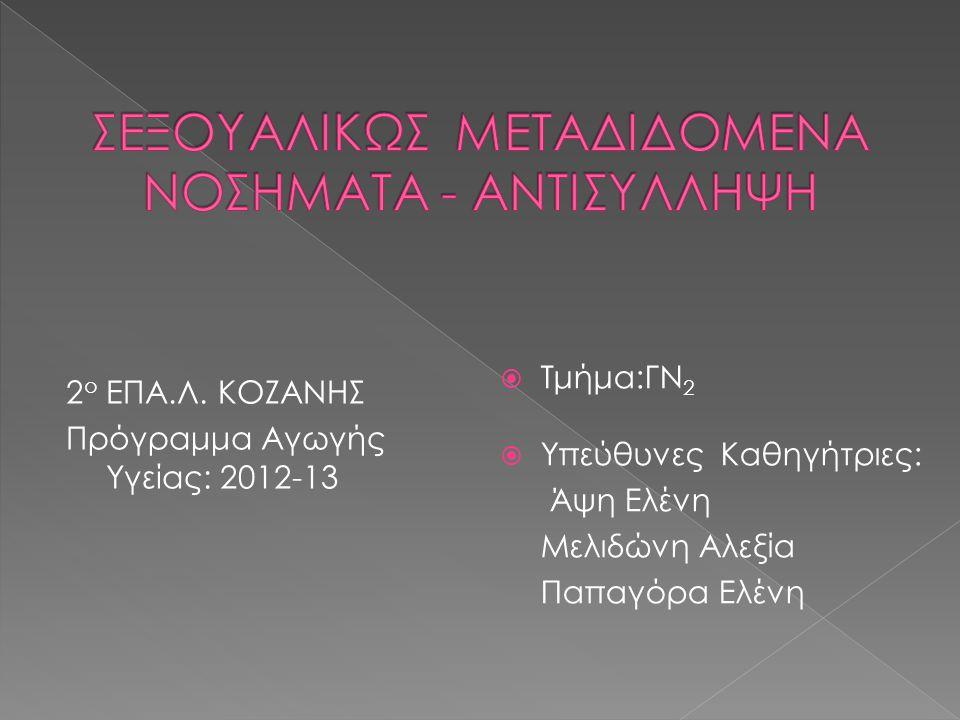 ΣΕΞΟΥΑΛΙΚΩΣ ΜΕΤΑΔΙΔΟΜΕΝΑ ΝΟΣΗΜΑΤΑ - ΑΝΤΙΣΥΛΛΗΨΗ