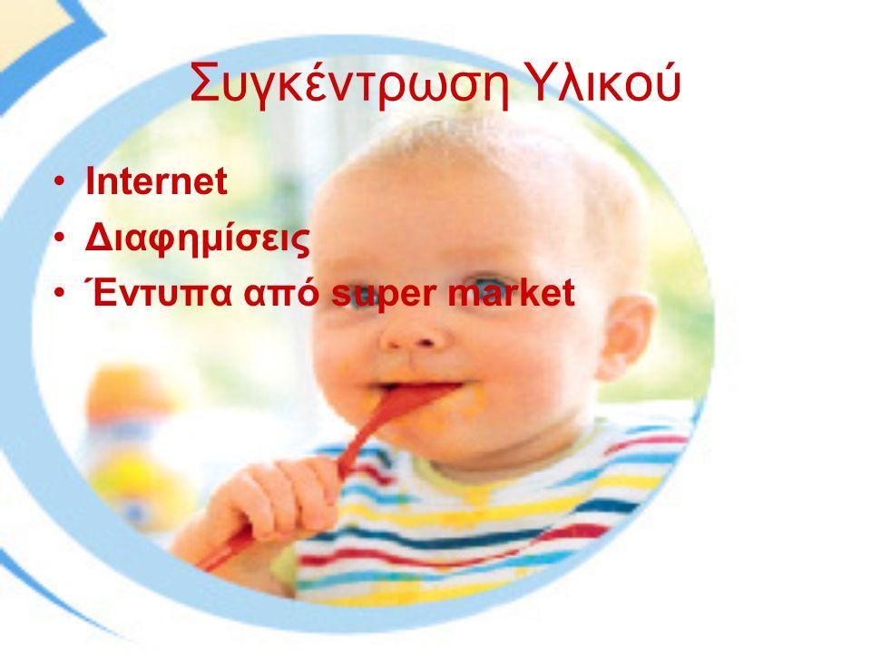 Συγκέντρωση Υλικού Internet Διαφημίσεις Έντυπα από super market