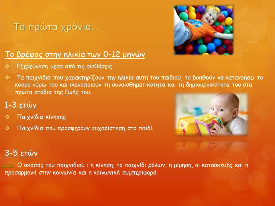 Τα πρώτα χρόνια… Το βρέφος στην ηλικία των 0-12 μηνών 1-3 ετών