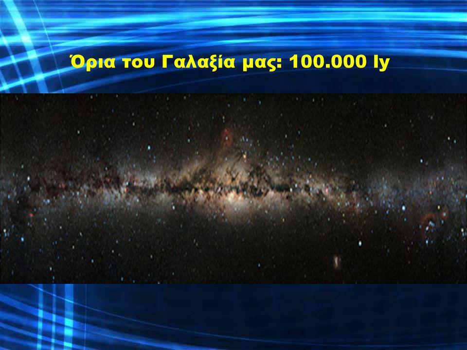 Όρια του Γαλαξία μας: 100.000 ly