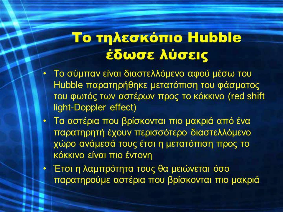 Το τηλεσκόπιο Hubble έδωσε λύσεις
