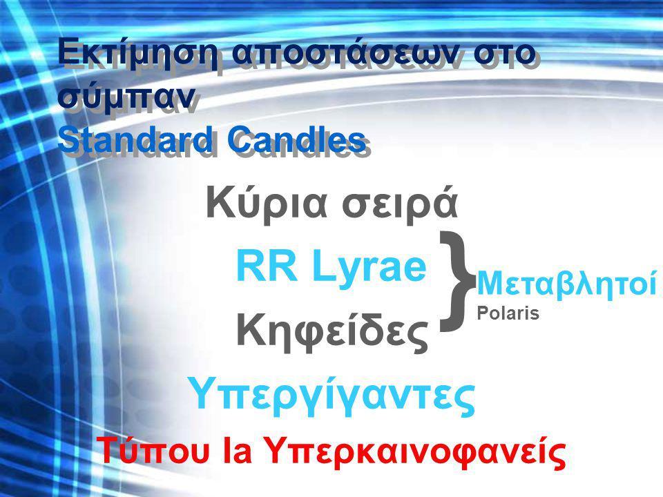 Εκτίμηση αποστάσεων στο σύμπαν Standard Candles