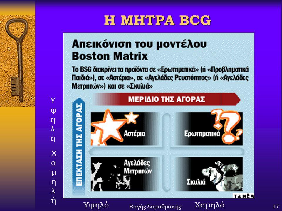 Η ΜΗΤΡΑ BCG Υψηλή Χαμηλή Βαγής Σαμαθρακής Υψηλό Χαμηλό