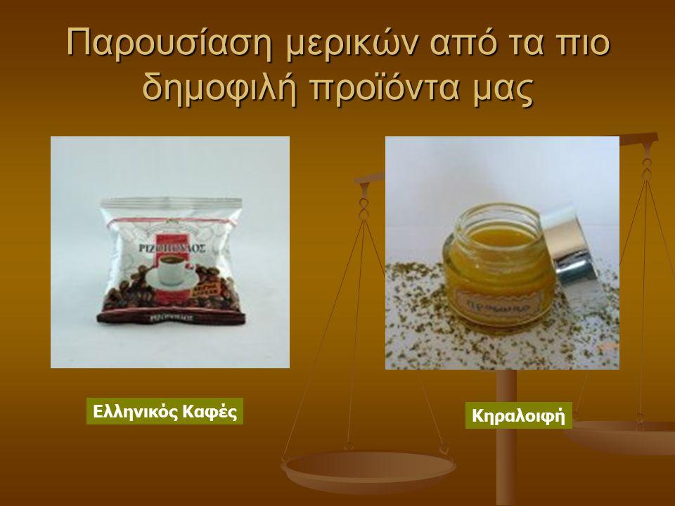 Παρουσίαση μερικών από τα πιο δημοφιλή προϊόντα μας